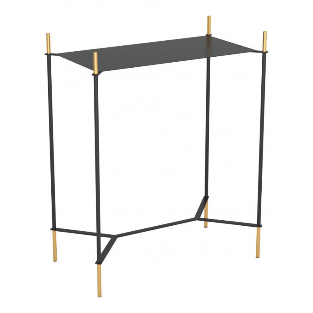 Austin Side Table Black & Gold