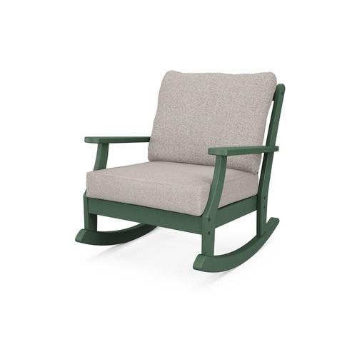Green & Weathered Tweed Braxton Deep Seating Rocking Chair