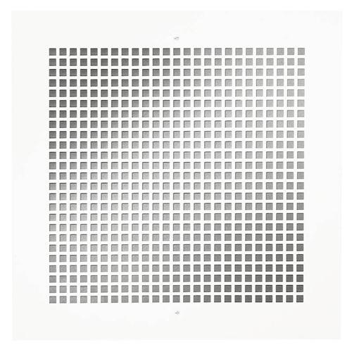 Broan - Broan® Metal Grille Kit for 100/150/200/ 250/ 300 CFM Ceiling Mount Models, White