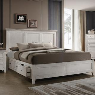 San Mateo Storage Bed  White
