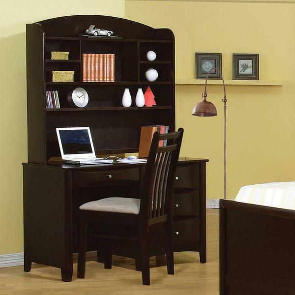 See Details - Phoenix Transitional Cappuccino Desk