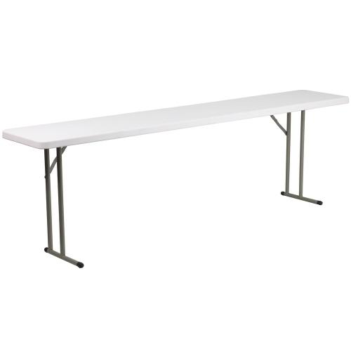 18''W x 96''L Granite White Plastic Folding Training Table