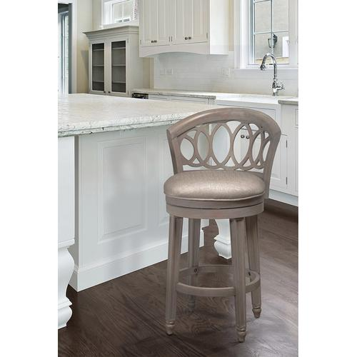 Product Image - Adelyn Swivel Counter Height Stool, Antique Graywash