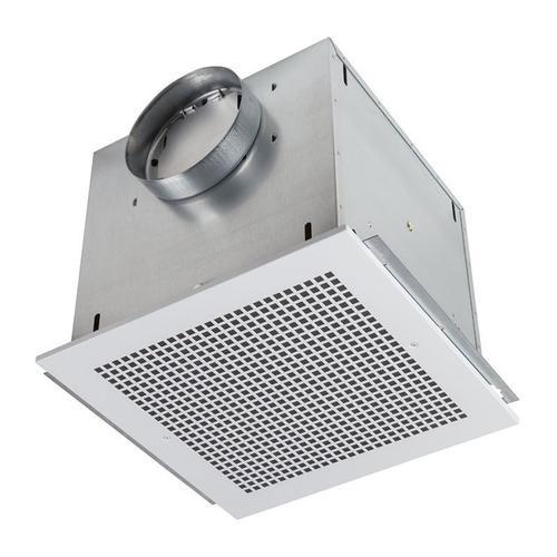 """Ventilator; 265 CFM Horizontal, 2.5 Sones; 262 CFM Vertical, 2.7 Sones. Metal grille. 8"""" rd. duct connector. 120V, Metal Grille"""