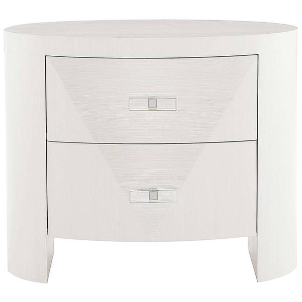 See Details - Axiom Oval Nightstand in Linear White (381)