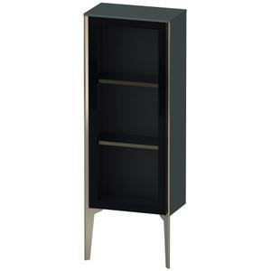 Semi-tall Cabinet With Mirror Door Floorstanding, Dolomiti Gray High Gloss (lacquer)