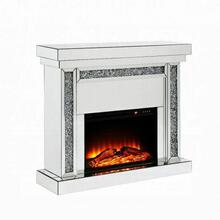 ACME Noralie Fireplace - 90470 - Mirrored & Faux Diamonds