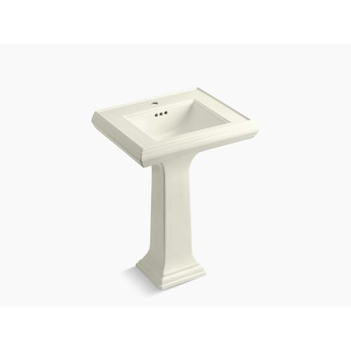"""Biscuit Classic 24"""" Pedestal Bathroom Sink With Single Faucet Hole"""