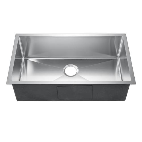 "Fabyan Single Bowl Stainless Kitchen Sink - 32"" x 19"""