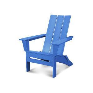 Polywood Furnishings - Modern Folding Adirondack in Pacific Blue