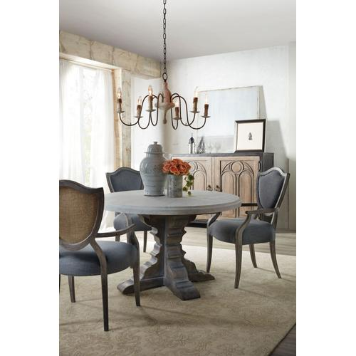 Dining Room Beaumont Round Dining Table with 48in Marble Top