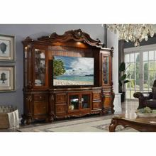 ACME Picardy Entertainment Center - 91520 - Traditional, Vintage - Glass, Wood (Aspen/Poplar), Wood Veneer, Poly-Resin - Cherry Oak