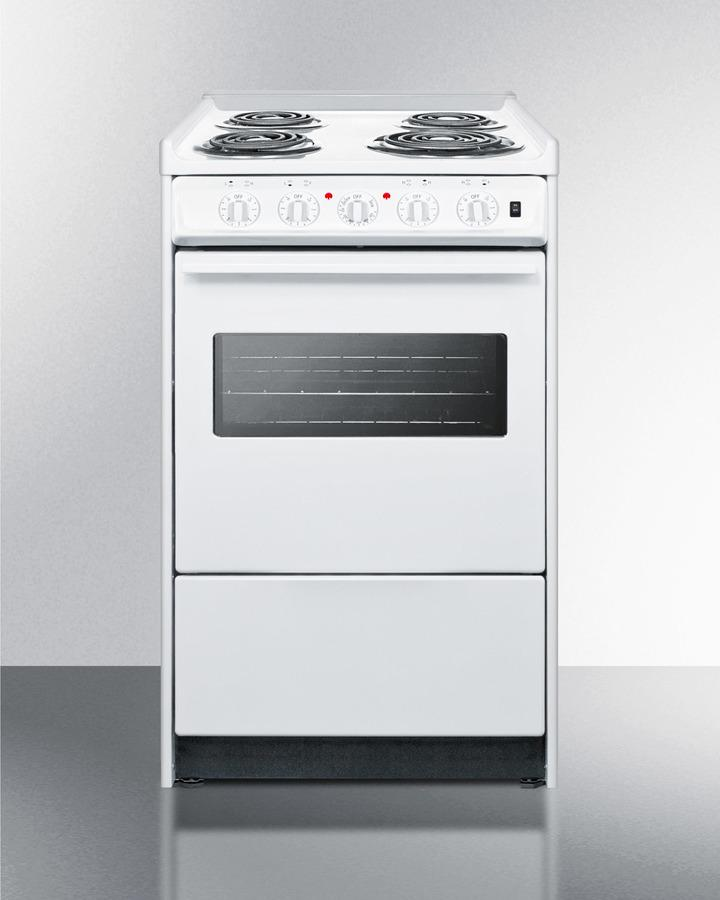 """Summit20"""" Wide Electric Coil Top Range"""
