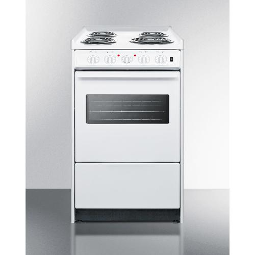 """Summit - 20"""" Wide Electric Coil Top Range"""