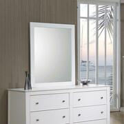 Selena Contemporary White Mirror Product Image