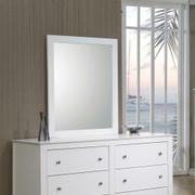 Selena Contemporary White Mirror Product Image