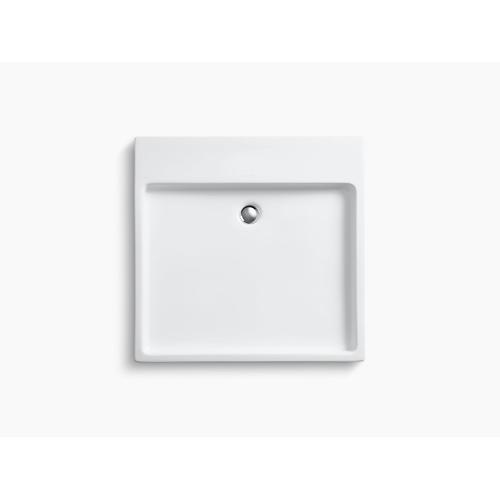 White Above-counter/wall-mount Vessel Bathroom Sink