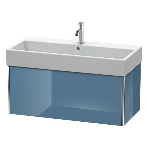 Product Image - Vanity Unit Wall-mounted, Stone Blue High Gloss (lacquer)