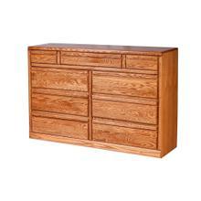 See Details - Forest Designs Bullnose Nine Drawer Dresser: 60W X 40H X 18D