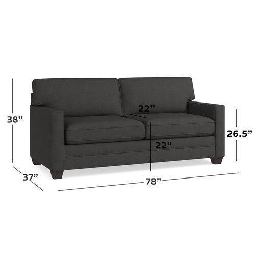Charcoal Alexander Track Arm Sofa
