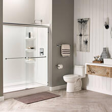 Studio 60x32-inch Shower Walls - Arctic White
