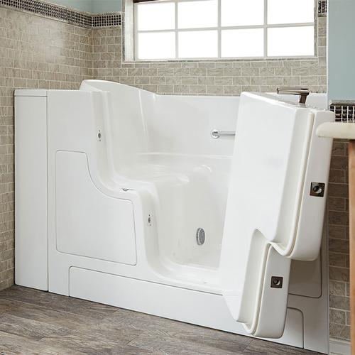 Gelcoat Premium Series 30x52 Walk-in Tub with Outswing Door, Right Drain  American Standard - White