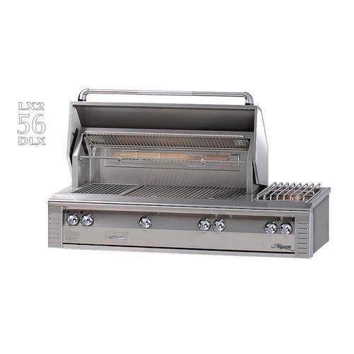 """Alfresco - 56"""" Deluxe built-in grill with side burner"""