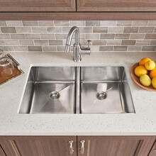 View Product - Pekoe 29x18 Double Bowl Kitchen Sink  American Standard - Stainless Steel
