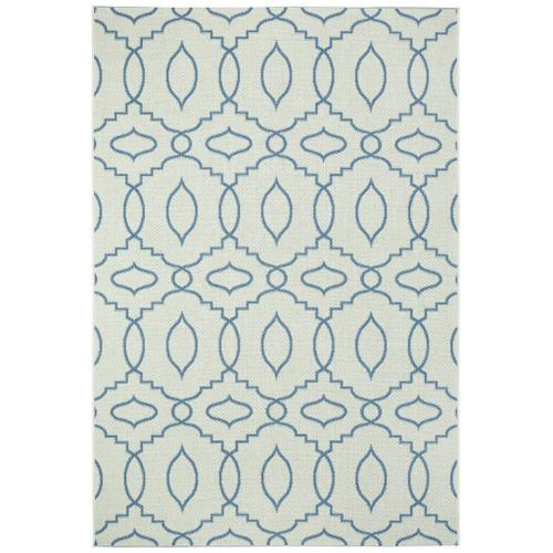 "Finesse-Moor Capri Blue - Rectangle - 3'11"" x 5'6"""