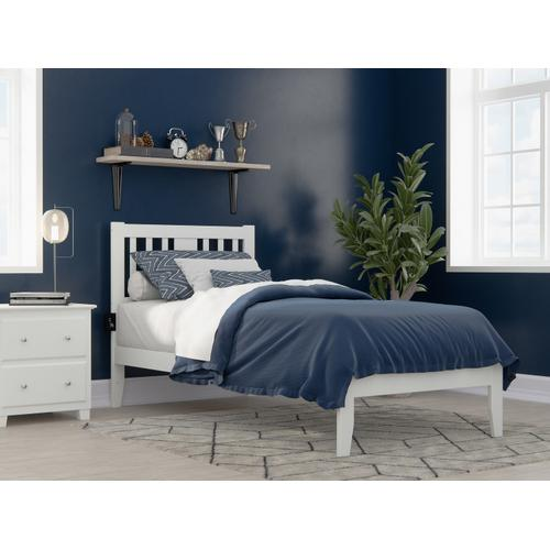 Atlantic Furniture - Tahoe Twin Extra Long Bed with USB Turbo Charger in White
