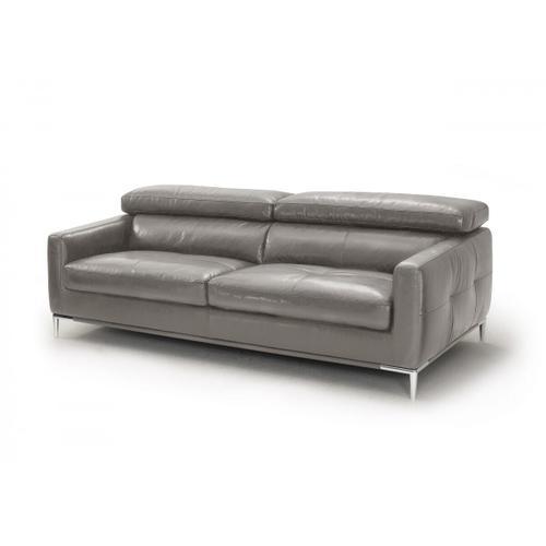 VIG Furniture - Divani Casa Natalia - Modern Dark Grey Leather Sofa