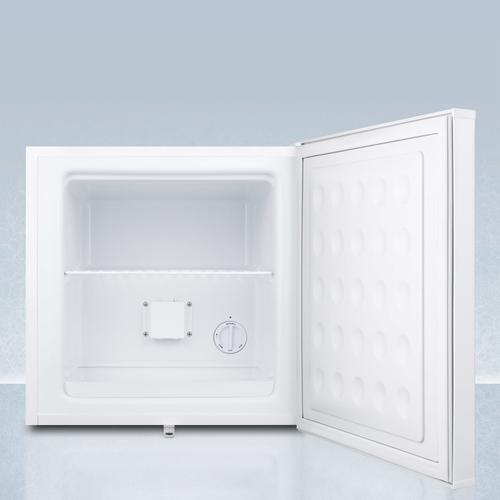 Summit - Compact Manual Defrost All-freezer With Lock and Probe Hole