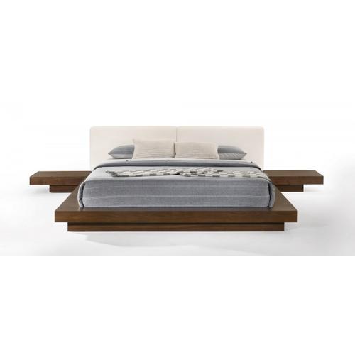 VIG Furniture - Modrest Tokyo - Contemporary Walnut and White Platform Bed