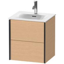 View Product - Vanity Unit Wall-mounted, Brushed Oak (real Wood Veneer)