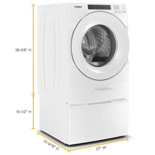 Whirlpool - 4.5 cu. ft. Closet-Depth Front Load Washer with Load & Go™ Dispenser
