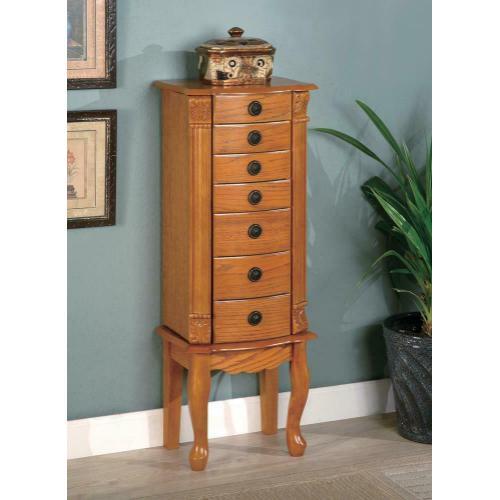 Gallery - Country Warm Oak Jewelry Armoire