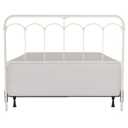 Jocelyn King Metal Headboard, Soft White