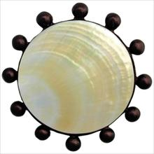 Beaded Round with Mother of Pearl