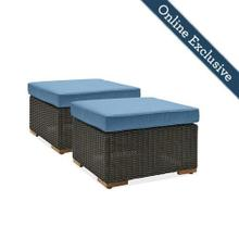 New Boston Outdoor Patio Ottomans