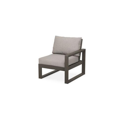 EDGE Modular Right Arm Chair in Vintage Coffee / Weathered Tweed