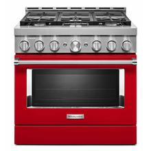 See Details - KitchenAid® 36'' Smart Commercial-Style Gas Range with 6 Burners - Passion Red