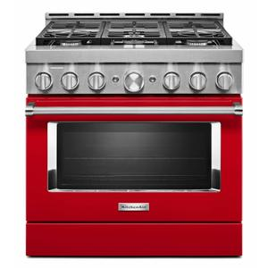 KitchenAid® 36'' Smart Commercial-Style Gas Range with 6 Burners - Passion Red Product Image