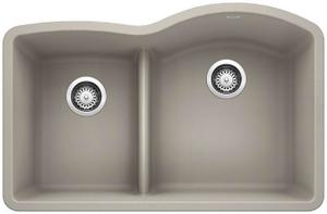 Diamond 1-3/4 Bowl Reverse With Low Divide - Concrete Gray Product Image