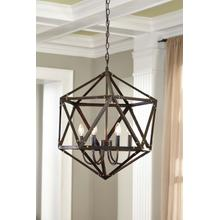 Metal Pendant Light (1/CN) Pendant Light - Bronze Finish Collection Ashley at Aztec Distribution Center Houston Texas