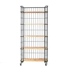 """Product Image - 36-1/2""""L x 16""""W x 78-3/4""""H Wood & Metal 5-Tier Shelf on Casters"""