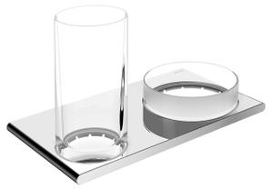 11554 Double holder cystal glass/crystal tray Product Image