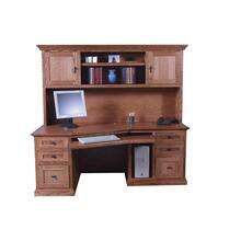 Forest Designs 74w Mission Angled Desk & Hutch
