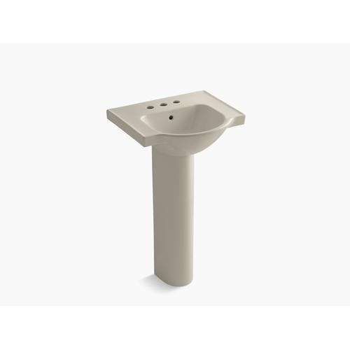 "Sandbar 21"" Pedestal Bathroom Sink With 4"" Centerset Faucet Holes"
