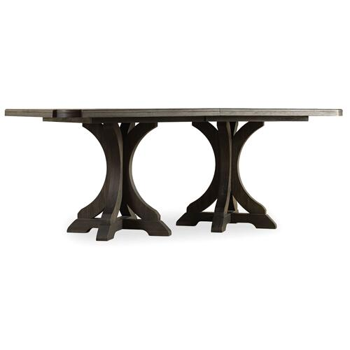 Hooker Furniture - Rectangle Pedestal Dining Top With 2-20in Leaves