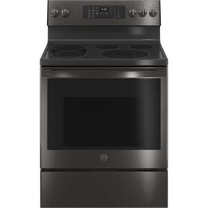 "GEGE Profile™ 30"" Smart Free-Standing Electric Convection Range with No Preheat Air Fry"
